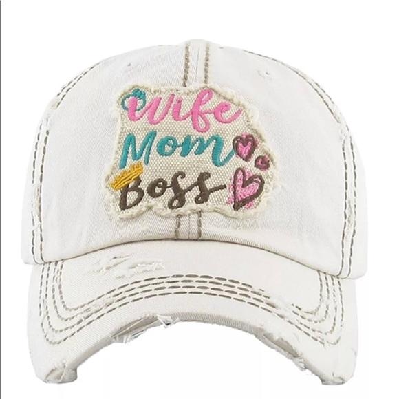 07abe4855ce Wife Mom Boss Vintage Style Baseball Cap 🧢